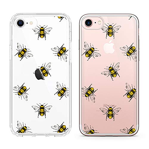 uCOLOR Bees Case for iPhone 6S Clear Case,iPhone 6 Transparent Clear Case for iPhone 8,iPhone 7 SE (2020) Hybrid TPU Bumper + Hard Back Cover for iPhone 6S/6/8/7 SE 2nd(4.7 inch)