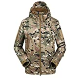 Lilychan Men's Military Soft Shell Tactical Jacket Outdoor Sports Hunting Army Waterproof Outerwear Coat (XXXX-Large, Camouflage)