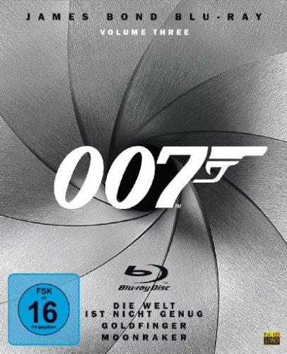 James Bond - Box Vol. 3: Goldfinger/Moonraker/Die Welt genug ist nicht genug [Blu-ray]