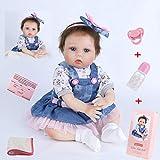 ZIYIUI 22 Pouces 55 cm Reborn Bébé Poupée Réaliste Bébé Reborn Fille Souple Silicone Vinyle Nouveau-né Bébé Garçon Fille Jouet
