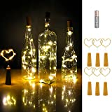 Wine Bottle Cork Lights, iMazer AAA Battery Operated Micro Artificial Copper Wire Starry Fairy String Lights for Christmas, Party, Wedding, Wine Bottle Decorations 6Pack (Battery Powered Warm White)