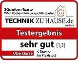 WMF Küchenminis Langschlitz-Toaster, integrierter Brötchenwärmer, cromargan matt, silber - 11