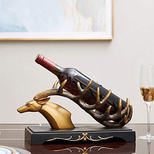 Asncnxdore De Estilo Europeo del Vino Creativo Gabinete De Decoración Vino Decoración Estante Decoración De Salón Mueble De Televisión Artesanías De Regalo 36 * 17 * 19cm