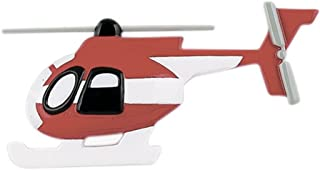 Personalized Helicopter Christmas Tree Ornament 2019 - Flying Red White Craft Hovering Airbus Flight Captain Aviation Way Trip First Vacation Honeymoon Winter Tradition Year - Free Customization