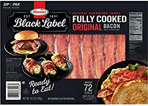 Hormel Black Label Fully Cooked Bacon (72 Slices)