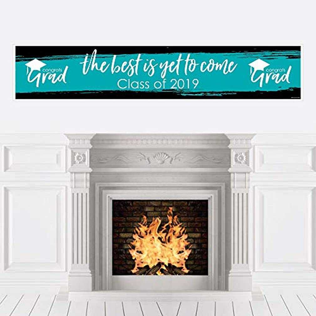 Teal Grad - Best is Yet to Come - Turquoise 2019 Graduation Party Decorations Party Banner