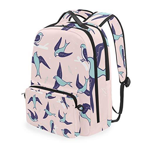 Pink Dove Birds - Mochila de hombro para portátil (bandolera), diseño de pájaros