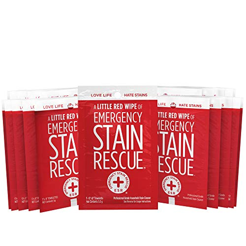 Emergency Stain Rescue Stain Remover Spray Carpet Stain Remover Spray Stain Remover Wipes (25 Individual Wipes)