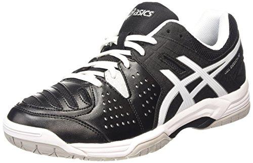 ASICS Gel-Dedicate 4, Zapatillas de Tenis para Hombre, Negro (Black/White/Silver 9001), 43.5 EU