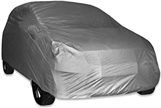 ARNV Car Body Cover for Creta, Built Fabric, Comes with Pocket Mirror and Belt (Grey)