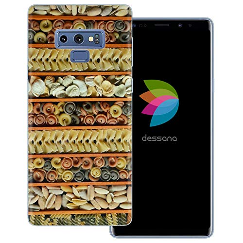 dessana Nudel Pasta transparante beschermhoes mobiele telefoon case cover tas voor Samsung Galaxy S Note, Samsung Galaxy Note 9, Pasta-soorten.