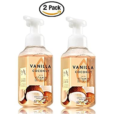 Bath and Body Works Gentle Foaming Hand Soap, Vanilla Coconut 8.75 Ounce (2-Pack)