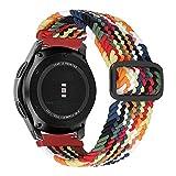 MroTech Compatible con Huawei Watch GT 2 46 mm/GT 2e/GT2 Pro Correa Nailon 22mm Pulsera Repuesto para Samsung Galaxy Watch3 45mm/Gear S3 Frontier/Galaxy 46mm Banda Hebilla Ajustable-elástica Coloré