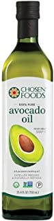 Chosen Foods 100% Pure Avocado Oil 25.3 oz., Non-GMO, for High-Heat Cooking, Frying, Baking, Homemade Sauces, Dressings and Marinades