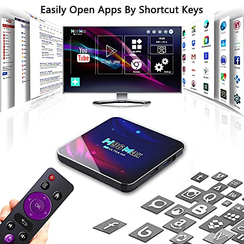 Smart TV Box 4G+64GB H96 Max Android 11.0 RK3318 Quad-Core with 2.4G WiFi 4K Ultra HD H.265 Streaming Media Player