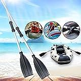 Ryoizen 1paire Pagaies de Kayak, Pagaies de Canoe à Double Tête, Rames modulables transformables en pagaie en Aluminium,Pagaie de Kayak Démontable Rame en Aluminium pour Canoë Kayak
