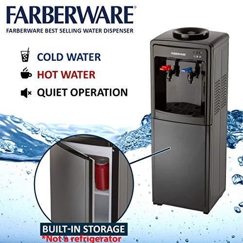 Farberware FW29919 Freestanding Hot and Cool Water Cooler Dispenser, Black