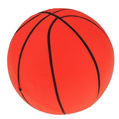 Homyl 8,5 Zoll Mini Kinder Aufblasbarer Basketball Softball Spielball Ball Fussball Spielzeug - Rot