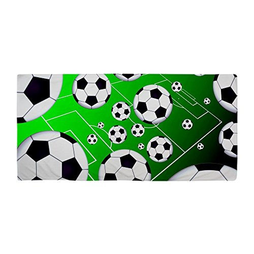 Travel Modern Design Beach Towel Soccer Field 27 x 54 Inches