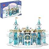 11008 Crystal Castle Street View Snow Palace Bricks Set di...