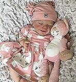 Rebirth Baby Doll 18 Pulgadas / 46cm Silicona Suave Realista Durmiente Recién Nacido Bebé Juguete,Girl