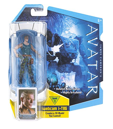 James Cameron's AVATAR Actionfigur (highly articulated) COL. MILES QUARITCH mit Blaster!