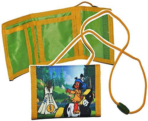 alles-meine.de GmbH Geldbörse Yakari - Geldbeutel Portemonnaie für Kinder - Geld Buskarte Geldtasche Regenbogen Pferd Kleiner Donner für Mädchen Jungen