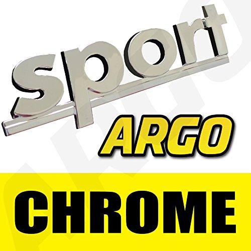 Chrom Sport Badge Silber 3D Emblem Aufkleber Aufkleber