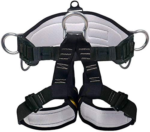 X XBEN Klettergurte Befestigender Klettergut,breiterer Halbgurt zum Bergsteigen, Feuerrettung, Für Frauen, Männer und Kinder halber Körperklettergurt