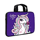 XMBFZ Laptop Sleeve Case 11.6' 12.1 Inch Neoprene Laptop Sleeve/Notebook Computer Pocket Case/Chromebook Case/Tablet Briefcase Carrying Bag Compatible for Men, Women ,Boys, Girls (Cute Unicorn)