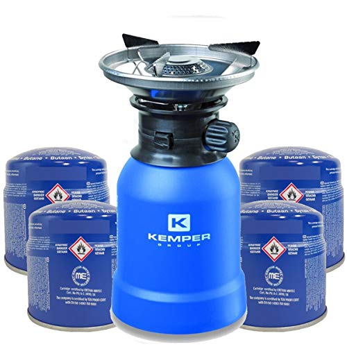 Rechaud gaz piezo KEMPER+ 4 Cartouches Rechaud a...