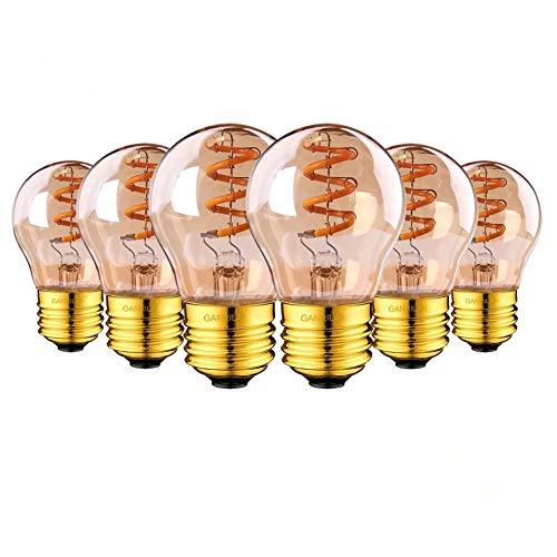 Vintage Edison Bombilla E27, Espiral G45 Bombilla de filamento LED Lámpara Regulable...