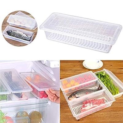 2Pcs Kitchen Drain Fresh-Keeping Refrigerator S...