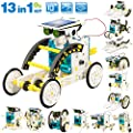 STEM 13-in-1 Solar Power Robots Creation Toy, Educational Experiment DIY Robotics Kit, Science Toy Solar Powered Building Robotic Set Age 8-12 for Boys Girls Kids Teens to Build