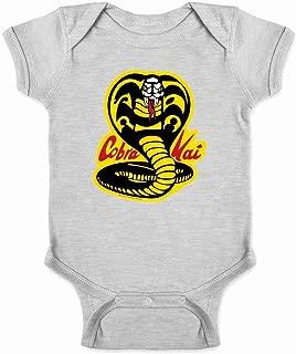 Cobra Kai Costume The Karate Kid Retro Martial Art Infant Baby Boy Girl Bodysuit