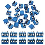 KeeYees 60pcs 5mm Pitch 2 Pin & 3 Pin PCB Mount Screw Terminal Block Connector for Arduino...