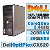 Dell OptiPlex GX 620 MT/Intel Core 2 Duo E6600 @ 2.4 GHz/2GB DDR2/80GB HDD/DVD-RW/WINDOWS 7 HOME 32 BIT