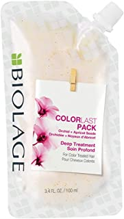 BIOLAGE ColorLast Deep Treatment Pack Multi-Use Hair Mask with Orchid and Apricot Seeds for Color Treated Hair, 3.4 fl. oz.