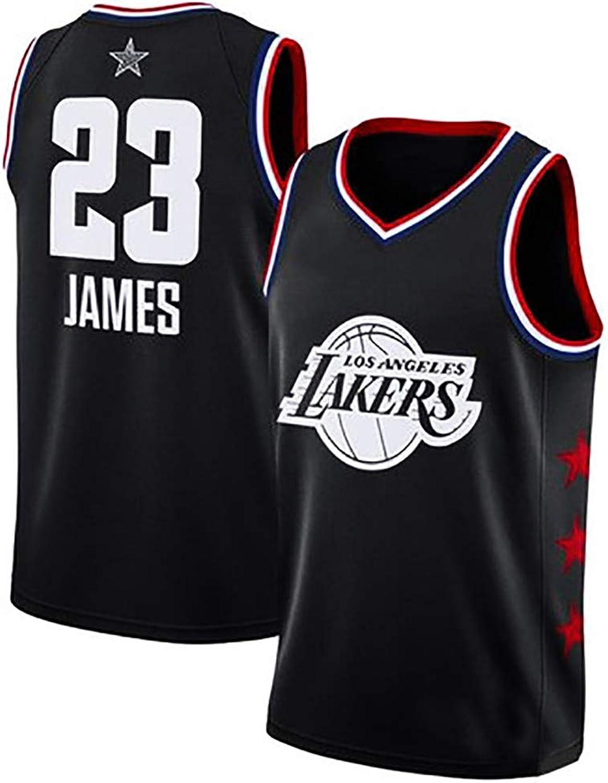 Jersey SumPo Basketball-Spieltrikots Für Herren James   23 Herren-Basketballtrikot NBA Los Angeles Lakers (Gre  S-6XL) M [Suitable for Height 150-159cm]