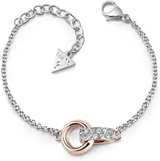 862ab49a0c Bracelet Guess Embrace surgical stainless steel gold plated pink circles  UBB78090-S [AC1123]