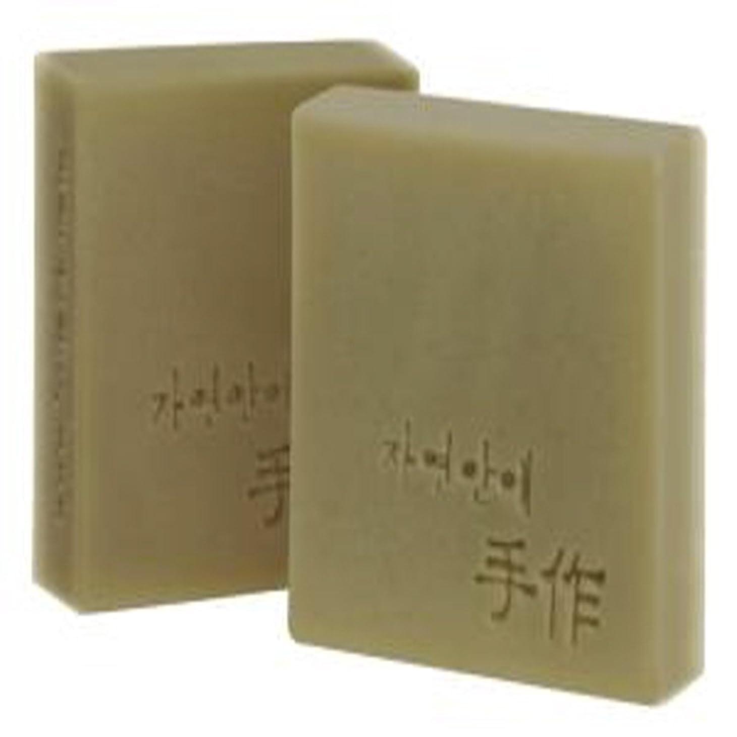 囲む浸す援助するNatural organic 有機天然ソープ 固形 無添加 洗顔せっけんクレンジング 石鹸 [並行輸入品] (バナナ)