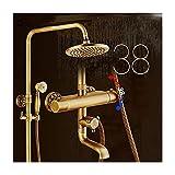 Gflyme 8 Zoll Antik Duschsystem Thermostat Wasser Brausegarnitur Multifunktional Duschsystem mit...