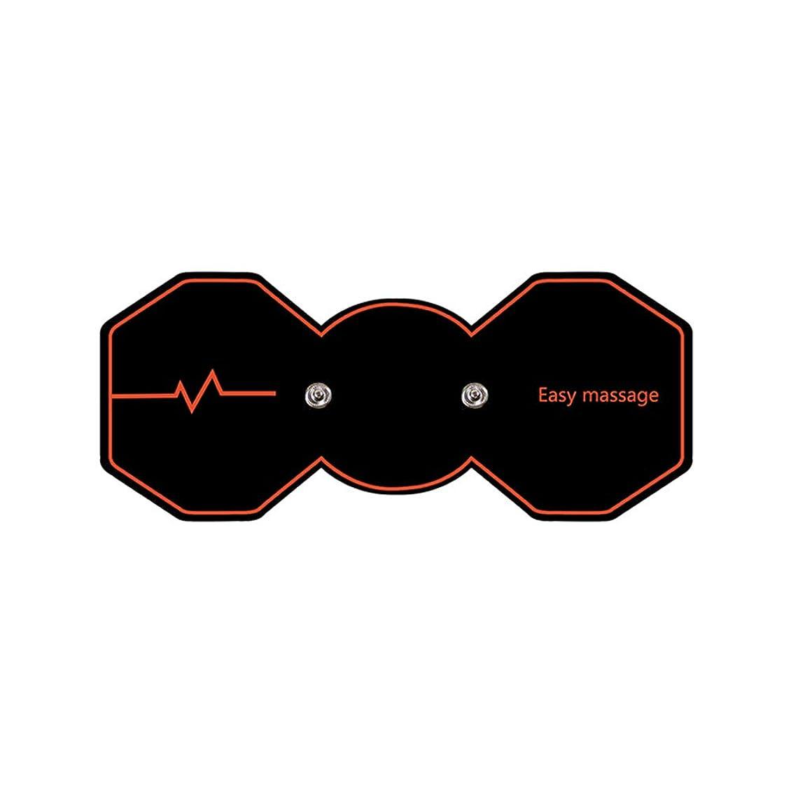 フォルダ振り向くフォーカスSUPVOX 電気パルスリラックスマッサージパッド電気痩身パッドボディ痩身筋肉マッサージャー(ブラック)
