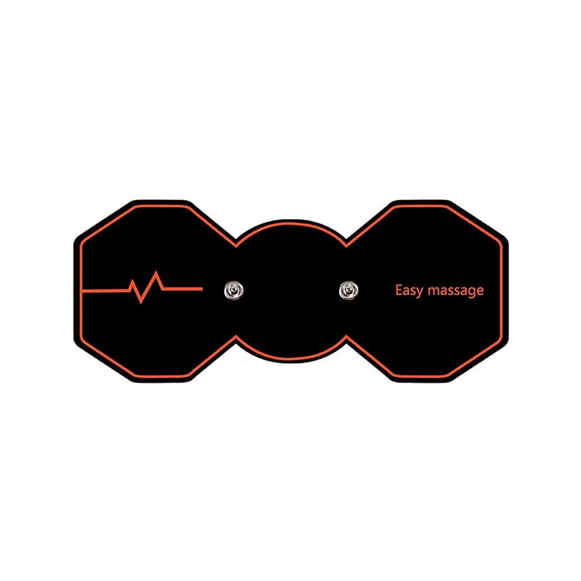 シェーバー神経障害バーマドHealifty 電気マッサージパッド電気痩身パッドボディ痩身筋肉マッサージャー(ブラック)
