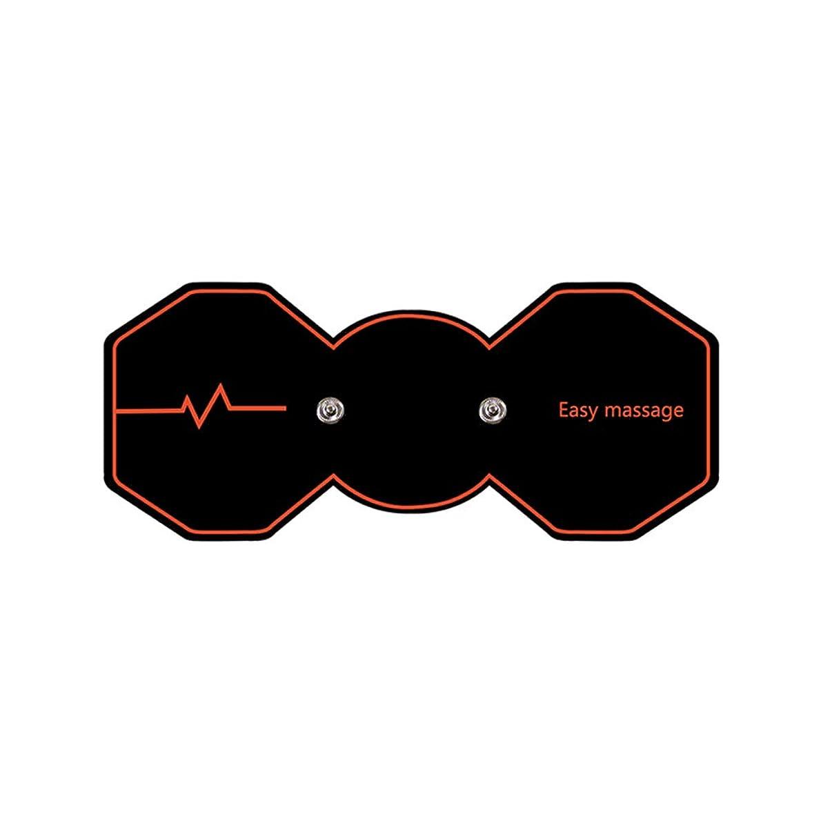 電圧感謝するマーベルSUPVOX 電気パルスリラックスマッサージパッド電気痩身パッドボディ痩身筋肉マッサージャー(ブラック)