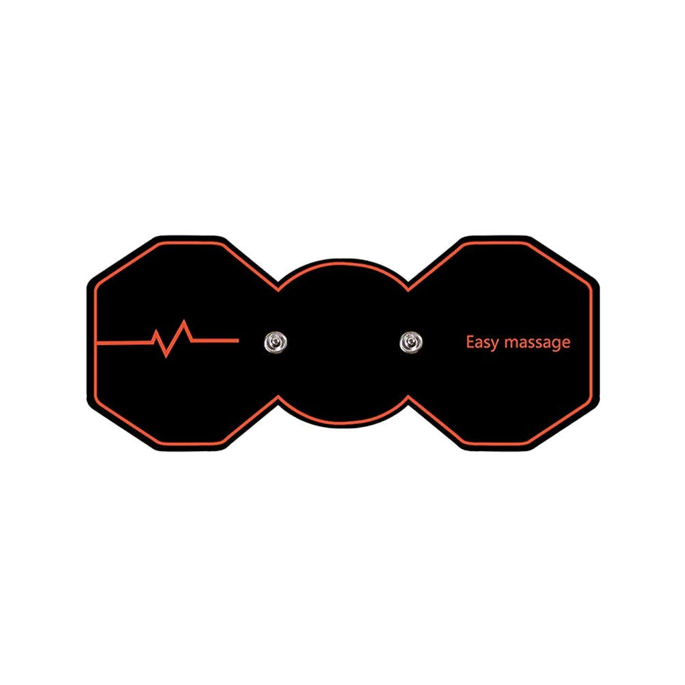 こっそり十一経済SUPVOX 電気パルスリラックスマッサージパッド電気痩身パッドボディ痩身筋肉マッサージャー(ブラック)