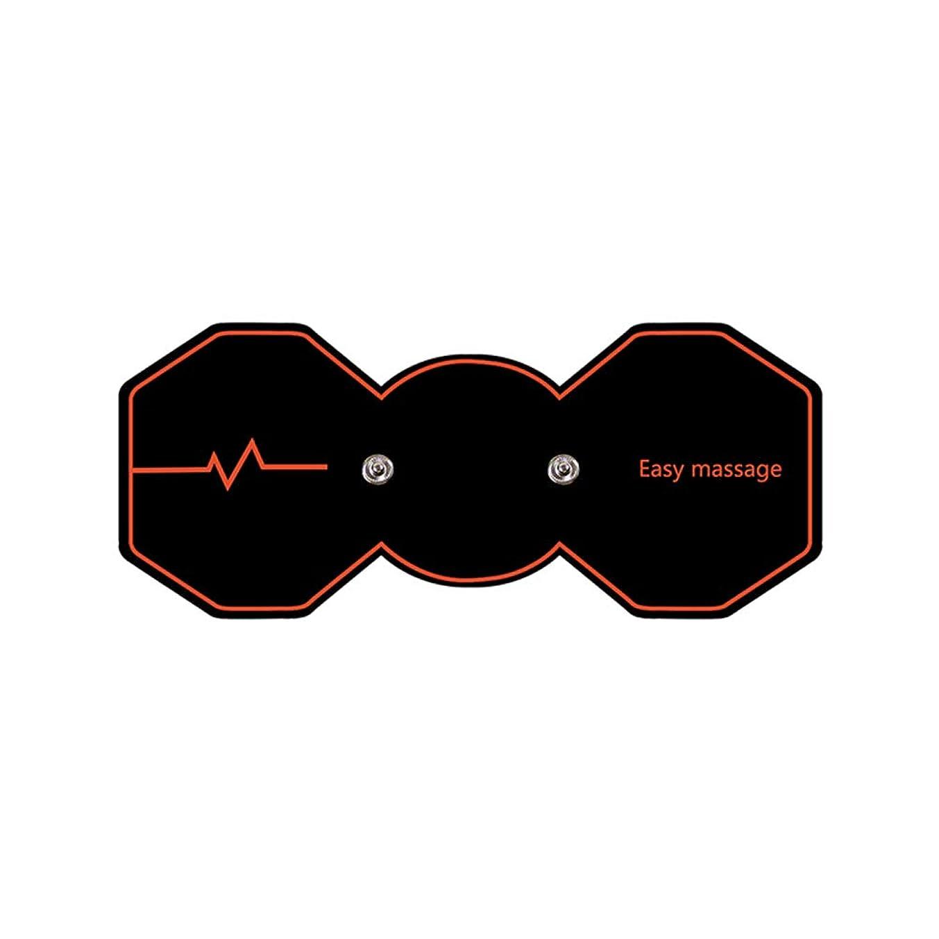 匿名努力棚SUPVOX 電気パルスリラックスマッサージパッド電気痩身パッドボディ痩身筋肉マッサージャー(ブラック)