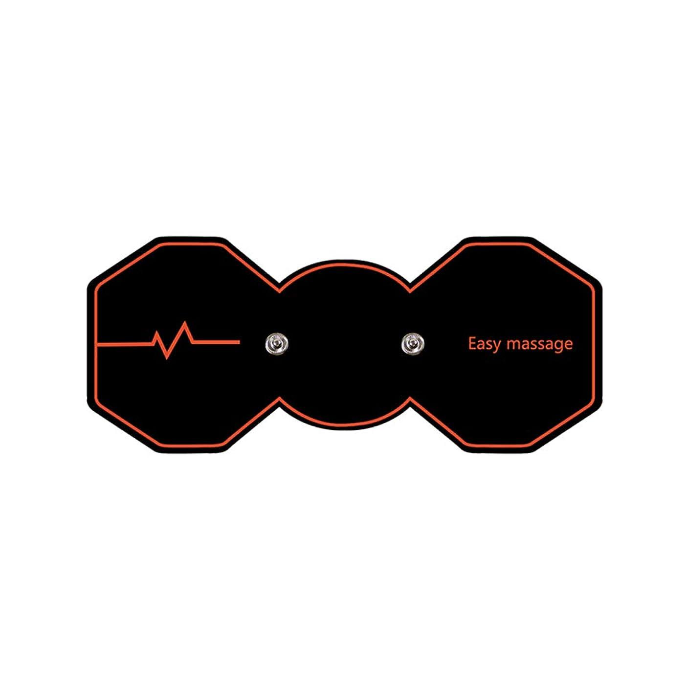 調整急行する黒SUPVOX 電気パルスリラックスマッサージパッド電気痩身パッドボディ痩身筋肉マッサージャー(ブラック)