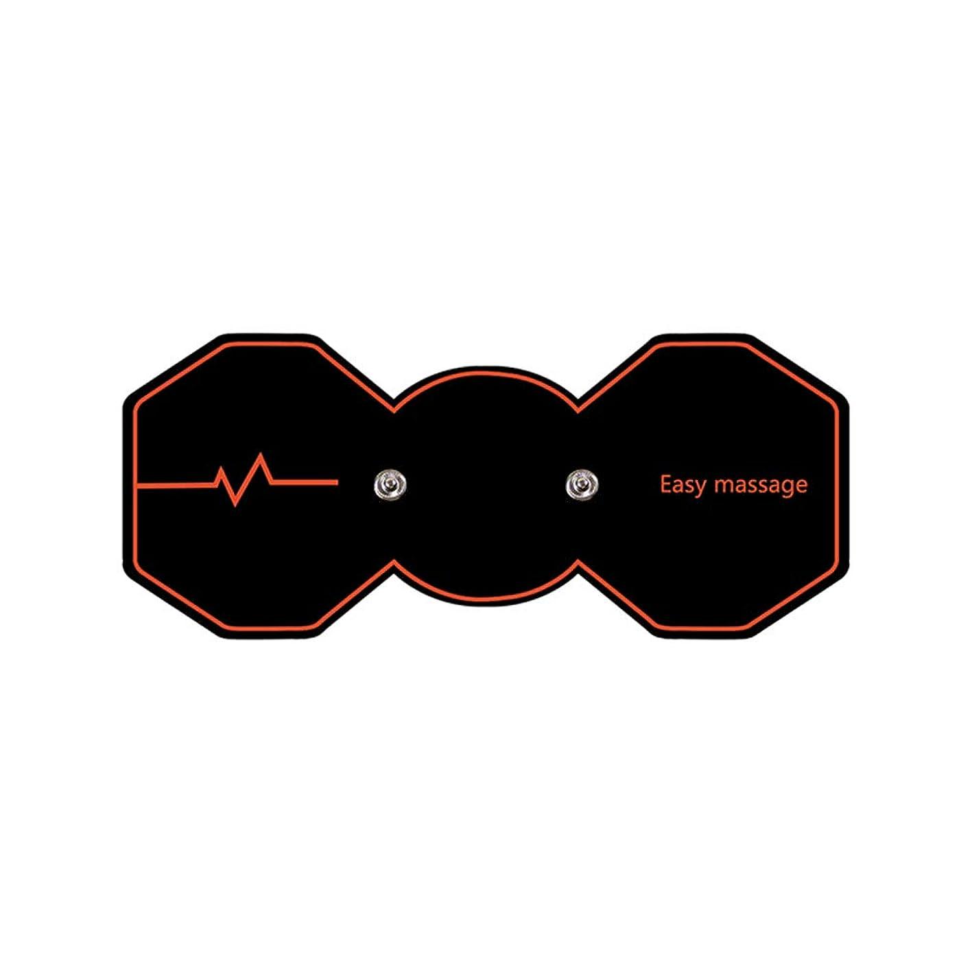 大きさワームパパSUPVOX 電気パルスリラックスマッサージパッド電気痩身パッドボディ痩身筋肉マッサージャー(ブラック)