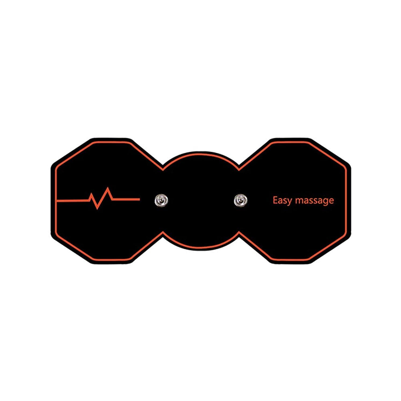 お願いしますハッチ伝導SUPVOX 電気パルスリラックスマッサージパッド電気痩身パッドボディ痩身筋肉マッサージャー(ブラック)
